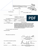 Victor Solis complaint, arrest warrant