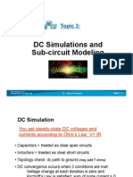 DC Simulations and Sub-circuit Modeling