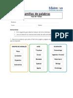 04b Hoja de Trabajo - Familia Semántica y Léxica - Respuestas Para El Profesor