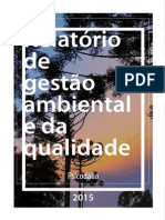 Relatorio de gestão ambiental e da qualidade - Psicodalia 2015