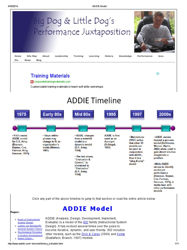 Addie Model | Instructional Design | Emergence
