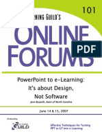 PowerPoint to E-Learning - 2007