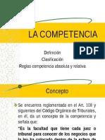 LA COMPETENCIA Def Clasifi Reglas Grales