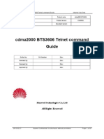 Cdma2000 BTS3606 Telnet Command Guide