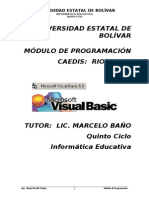 TUTORIA VISUAL BASIC, PROGRAMACION DE SISTEMAS