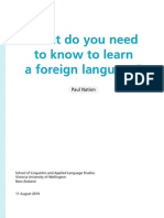 What do you need to know to learn a foreign language?