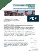 O uznanie za strone czynna procesowa w zw. z katastrofa pod Smolenskiem 10.04.2010 PKN2 von Stefan Kosiewski CANTO CDLIII