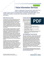 InteractiveData Real Time Fair Value Information Services