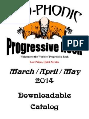 Catalogo pregresivo | Progressive Rock | Albums