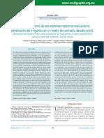 Estudio Comparativo de Dos Sistemas Rotatorios Evaluando La Penetración Del Irrigante Con Un Medio de Contraste