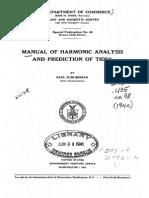 Schureman 1924 Manual of Harmonic Analysis and Prediction Tides