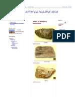 La Clasificación de Los Silicatos_ Fotos de Minerales