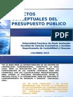 Aspectos Conceptuales Del Presupuesto Público.