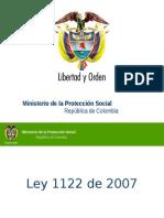 Ley 1122 Del 2007 Reforma Sgsss