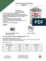 Cemento PVC Transparente