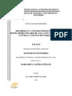 Desarrollo y Análisis Energético de Destiladores Solares de Agua