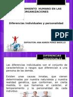 2.1 Diferencias y Personalidad
