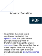 Aquatic Zonation