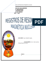 Registros de Resonancia Magnética