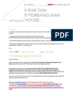 Contoh Rab Dan Gambar Pembangunan Green House