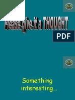 Power Point berkenaan Thought