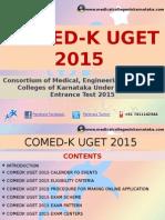 COMEDK UGET 2015 MBBS ENTRANCE EXAM NOTIFICATION