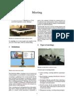 Meeting - WikiBook