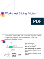 Solved Examples Sliding Friction