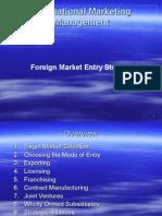 Intertnational Marketing Management_FOREIGN MARKET ENTRY STRATIGIES.ppt