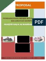 Proposal Masjid Raya Al Wahdah Kec. Siompu