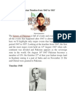 Timeline of Pakistan From 1947 to 1957