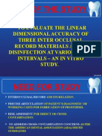 Linear Dimensional Accuracy of Three Inter Occlusal Record Materials After Disinfection (1)