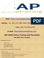 SAP ABAP Online Training and Placement - SAP ABAP DEMO SESSION - Online Training in SAP