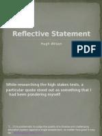 reflective statement