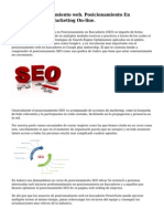 Tecnicas posicionamiento web. Posicionamiento En Buscadores web. Marketing On-line.
