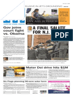 Asbury Park Press front page Friday, March 27 2015