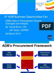 7 Plenary - ADB's Role in Procurement by DBinns and JTaylor 12Mar2015