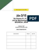 German Zdv315 Die Pistolen P1 P7 P8