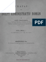 Tratat de Drept Administtrativ Volumul 1 Cartea i Si II