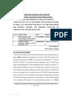 Adjudication Order against Prasad V Potluri and PVP Energy Pvt. Ltd. in the matter of PVP Ventures Limited