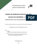 Análise Do Ambiente Luminoso Em Dois Sectores de Actividade-trabalho Administrati_20130530000335858(1)