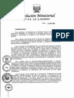 RM N° 199-2015-MINEDU.