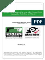 Decima Tercer Encuesta Nacional Sobre Percepcion de Inseguridad Ciudadana MUCD Ejecutivo