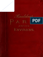 BAEDEKER, K. Paris and Environs With Routes From London to Paris . Handbook for Travellers (1891)