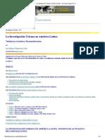 La Investigación Urbana en América Latina - Discussion Paper No