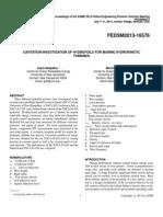CAVITATION INVESTIGATION OF HYDROFOILS FOR MARINE HYDROKINETIC TURBINES