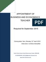 Business and Economics Teacher
