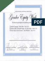 gender equity week