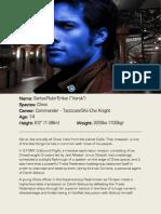 Varuk Character Bio + Sheet