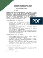 College Info Sample